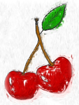 cherry drawing
