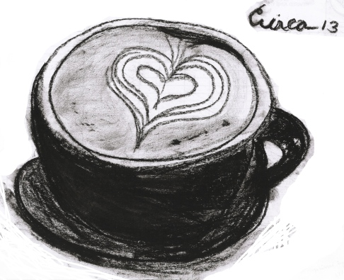 Mocha Coffee drawing